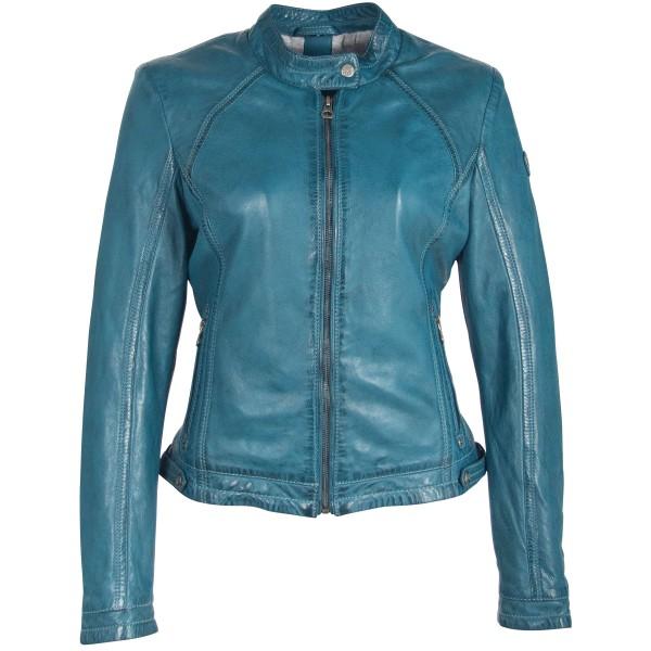 Gipsy Damen Lederjacke Farbe türkis