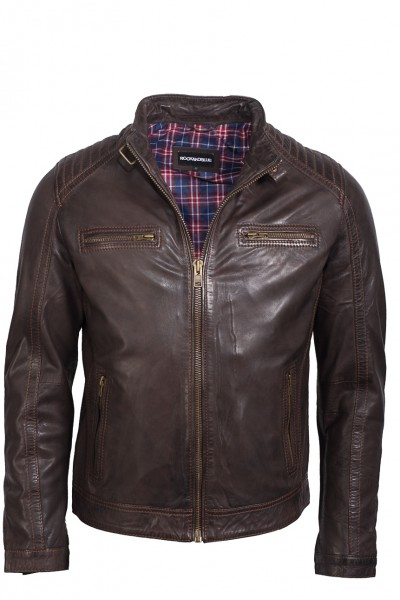 Rock`n Blue Lederjacke Advance dunkelbraun