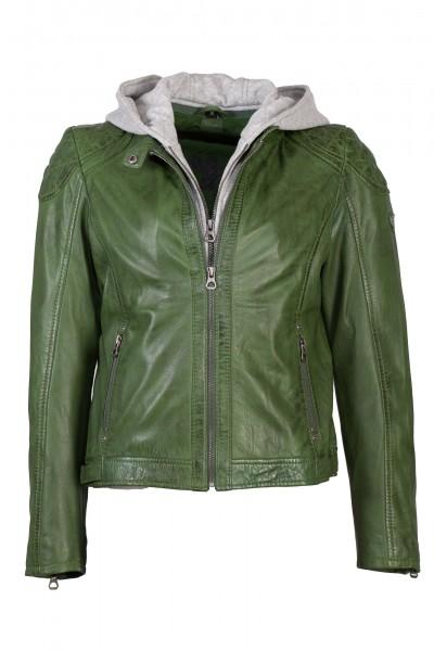 Gipsy Lederjacke Damen grün