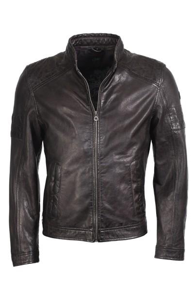Trendige Bikerjacke von Gipsy in schwarz