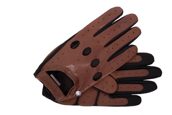 Sportiver Autofahrer Handschuh von Roeckl für Herren mit Touch-Funktion in cognac