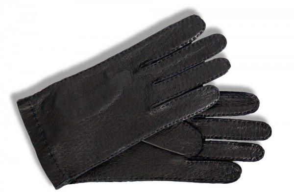 Roeckle Herren Lederhandschuhe Peccaryleder schwarz