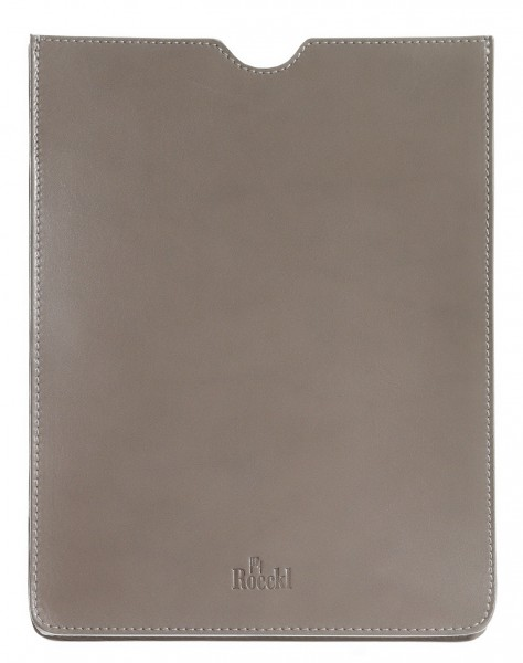 iPad Etui - trüffelfarben feines Echtleder