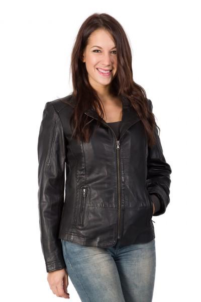 Wunderschöne Lederjacke für Damen in schwarz