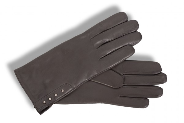 Roeckl Damenhandschuhe Nieten 11012-339 anthrazit/grau