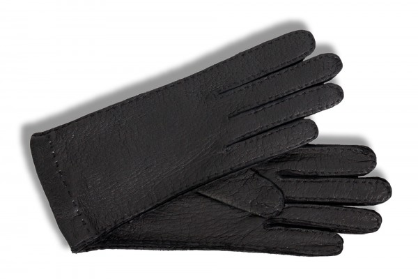 Elegante Handschuhe von Roeckl, feines schwarzes Peccaryleder