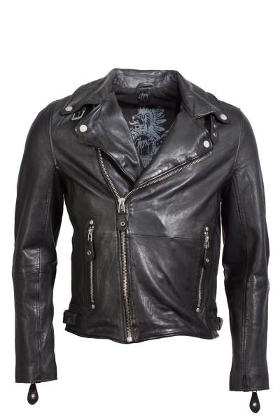 Coole Bikerjacke von Gipsy in schwarz