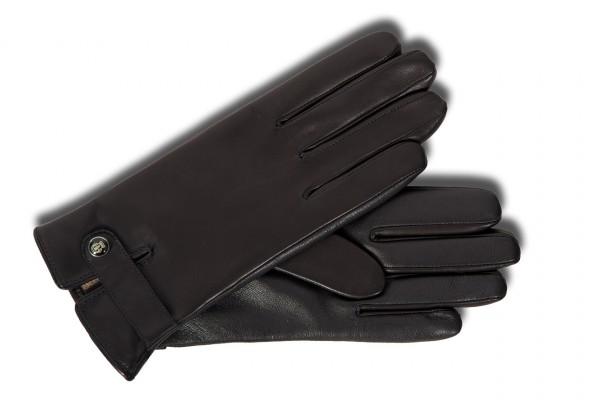 Damen TouchTec Smartphone & Tablet Handschuhe aus schwarzem Leder
