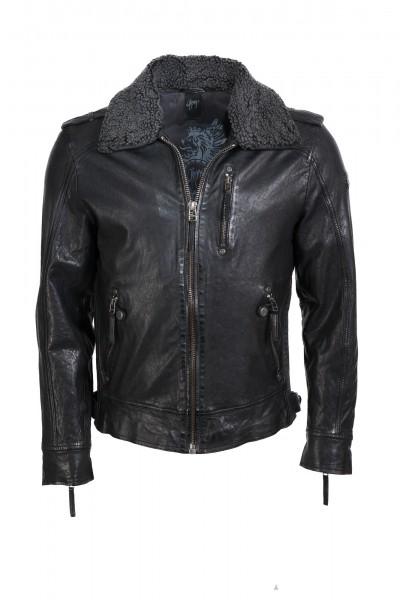 Modische Lederjacke von Gipsy in schwarz