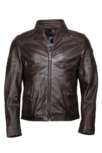 Gipsy Bikerjacke dark brown Cave