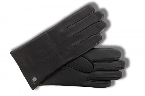Klassische Herrenhandschuhe von Roeckl mit Touchfunktion, schwarz