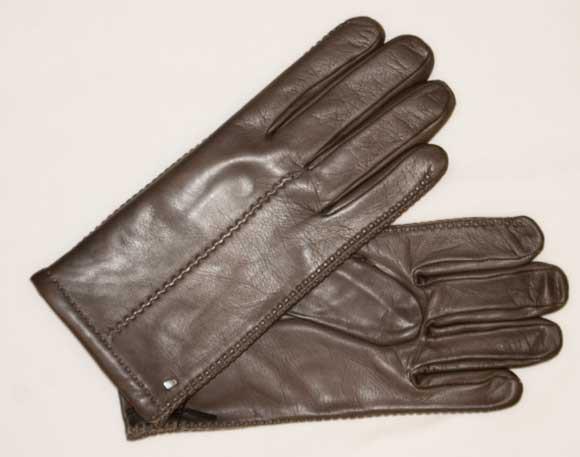 Schöner klassischer Herrenhandschuh in anthrazit