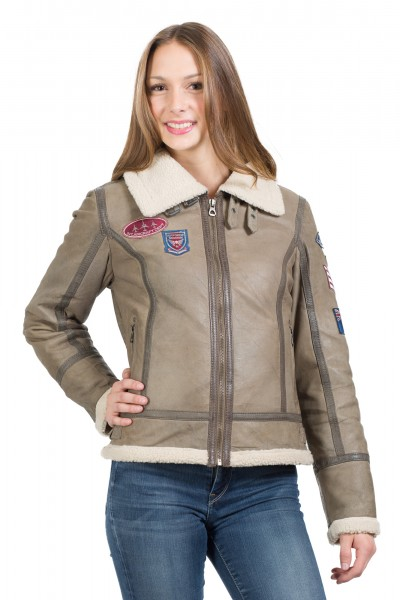 Gipsy Fliegerjacke taupe Boo