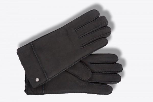Klassische Lammfell Handschuhe für Herren von Roeckl in schwarz