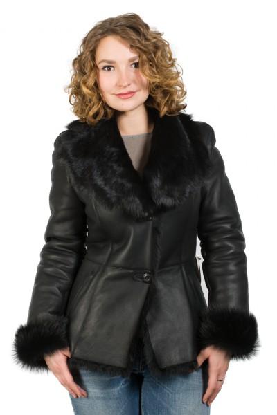 Edle Jacke aus Toscanalammfell schwarz