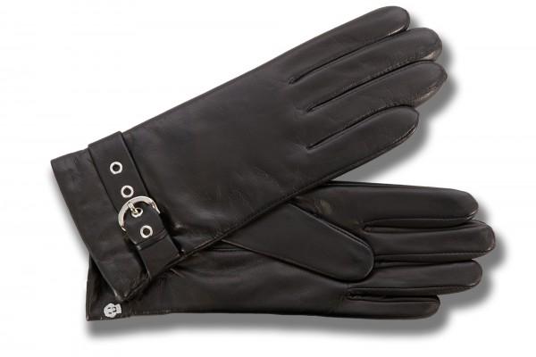 Glamouröser Lederhandschuh von Roeckl in schwarz
