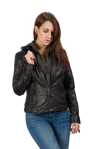 Gipsy stylische Damen Lederjacke schwarz
