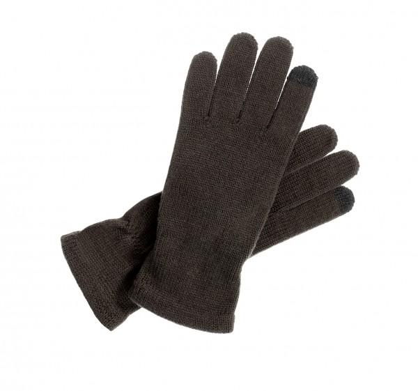 Touch taugliche Strick - Handschuhe für Tablet und Smartphones dunkelbraun