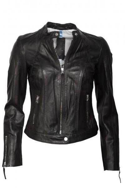 Klasse super schöne Milestone Damen Lederjacke schwarz Tori