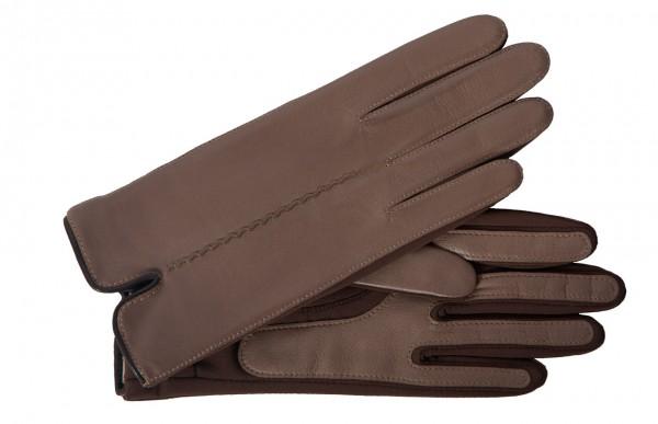 Junger trendiger Handschuh aus einem Leder-Spandex-Mix mink mocca