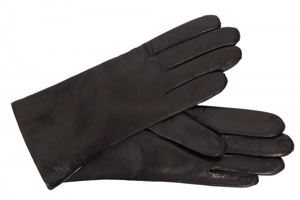 Elegante TOP Damen-Lederhandschuhe warm gefüttert in schwarz
