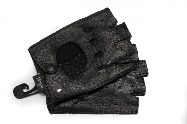 Sportliche Halbfingerhandschuhe von Roeckl in schwarz