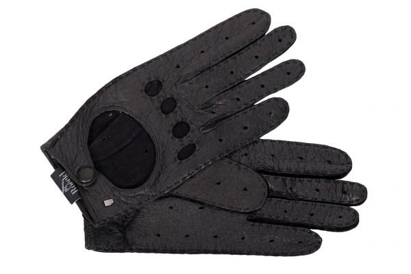Klassischer Peccary-Autofahrerhandschuh für Damen von Roeckl in schwarz