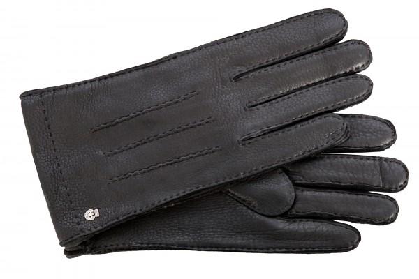 Superweiche Herren-Handschuhe von Roeckl, schwarz, Kaschmirfutter