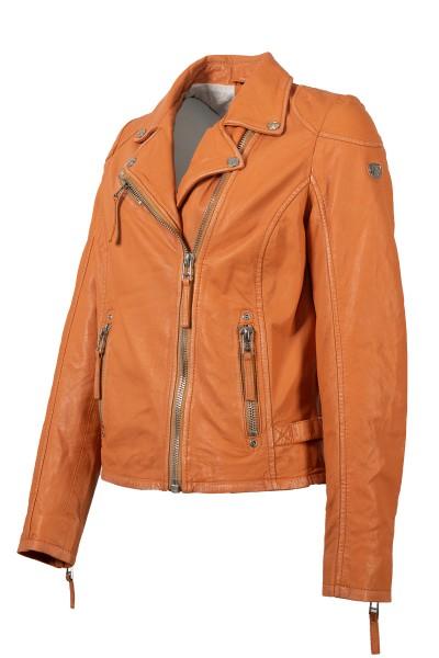 Gipsy Damen Lederjacke orange